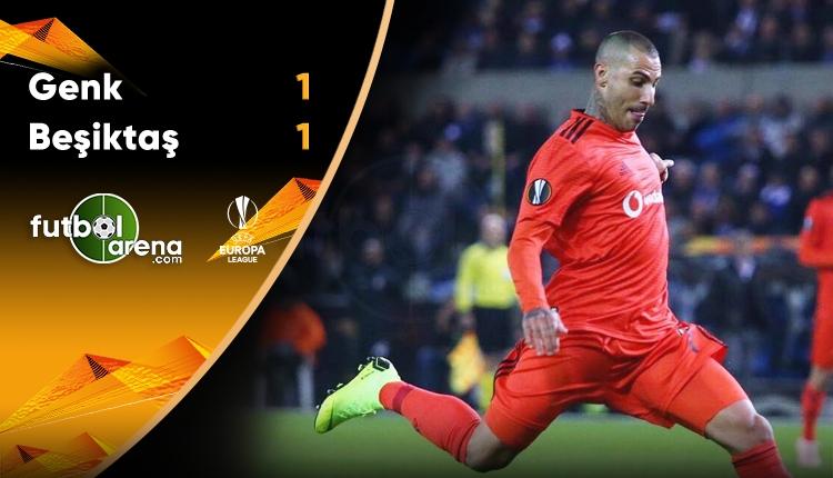 Genk 1-1 Beşiktaş maç özeti ve golleri izle (Avrupa Ligi özetleri izle)
