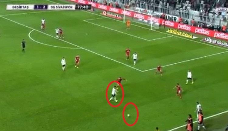 Beşiktaş - Sivasspor maçında kural hatası mı yapıldı?