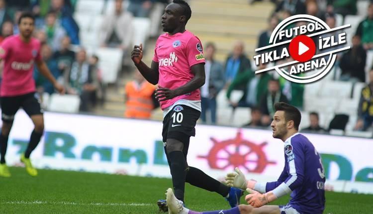 Bursaspor 1-2 Kasımpaşa maçı özeti ve golleri (İZLE)