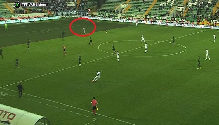 Erzurumspor'un 90+'da iptal edilen golü! VAR sistemi