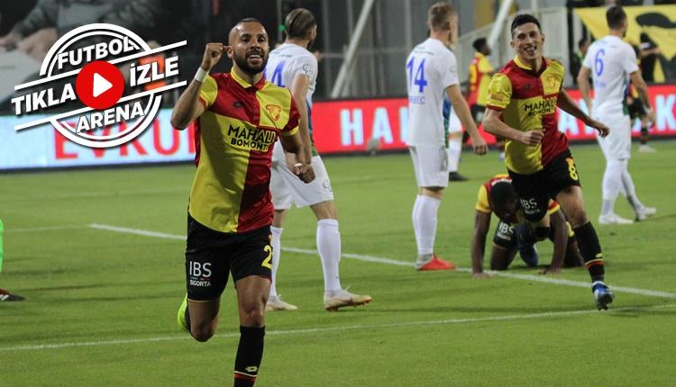 Göztepe 2-0 Rizespor maçı özeti ve golleri (İZLE)