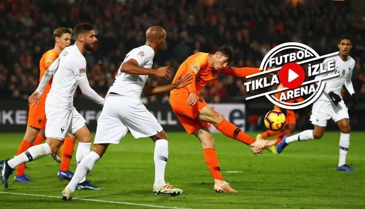 Hollanda 2-0 Fransa maç özeti ve golü izle (Babel oynadı mı?)