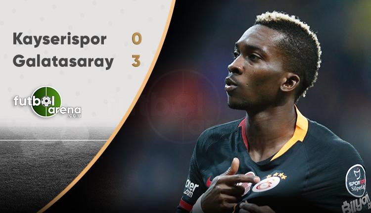 Kayserispor 0-3 Galatasaray maç özeti - Kayseri - Galatasaray maç sonucu (İZLE)