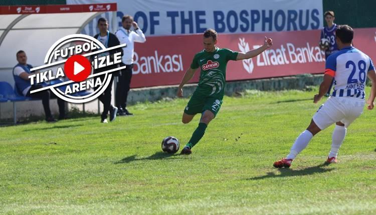 Sarıyer 1-2 Rizespor maçı özeti ve golleri (İZLE)