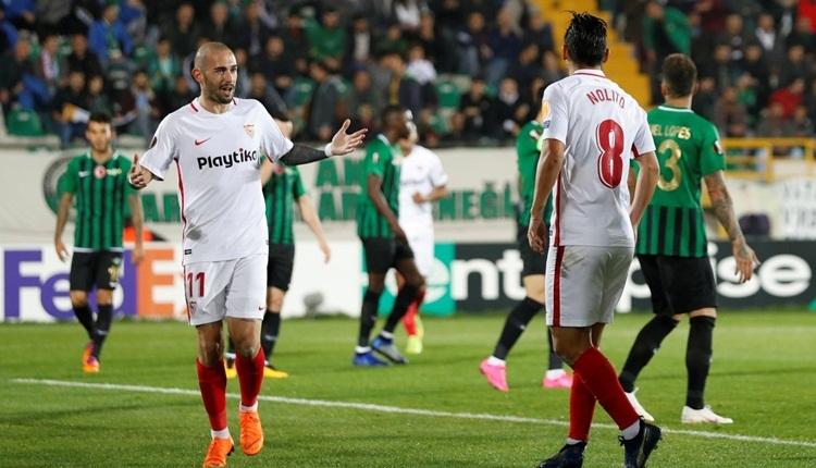 Sevilla, Akhisarspor maçında suç işledi