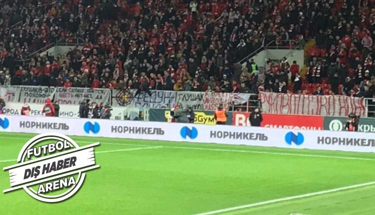 Spartak Moskova taraftarlarından eşi benzeri görülmemiş protesto