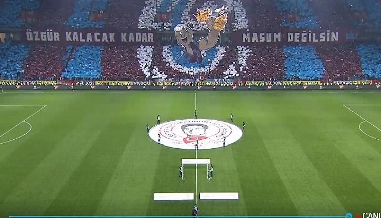 Trabzonspor'dan Fenerbahçe'ye koreografi göndermesi