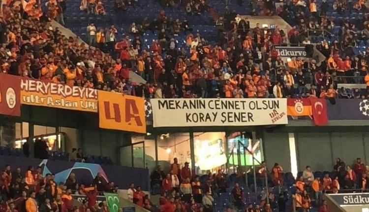 UltrAslan'dan Schalke maçında Koray Şener pankartı