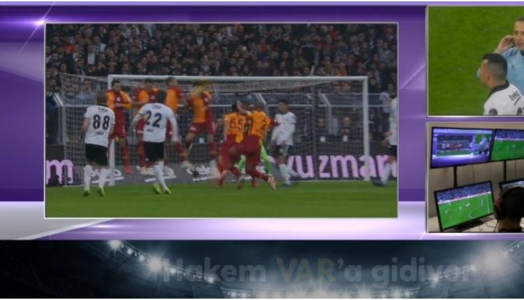Beşiktaş - Galatasaray Eren Derdiyok'un penaltı pozisyonu (VAR)