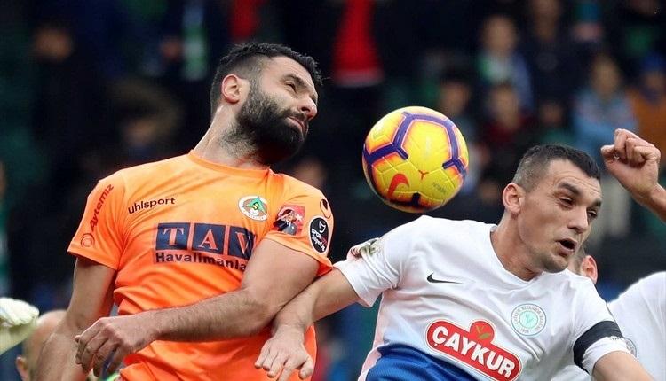 Çaykur Rizespor 1-1 Aytemiz Alanyaspor maç özeti ve golleri İZLE