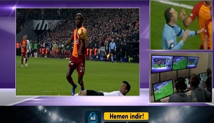 Cüneyt Çakır Galatasaray'ın penaltısını VAR'da iptal etti