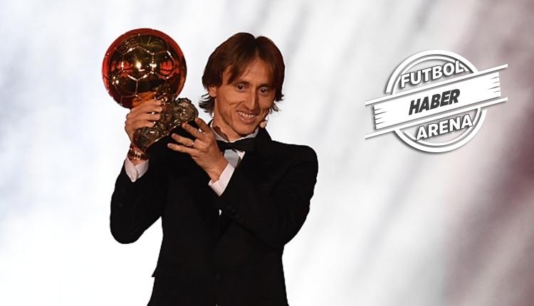 Luka Modric 2018 Ballon d'Or ödülünü kazandı