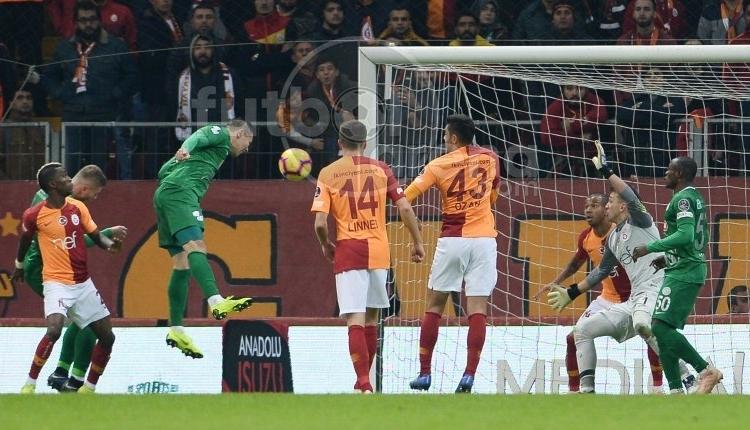 Rizespor'un Galatasaray maçında iptal edilen golü