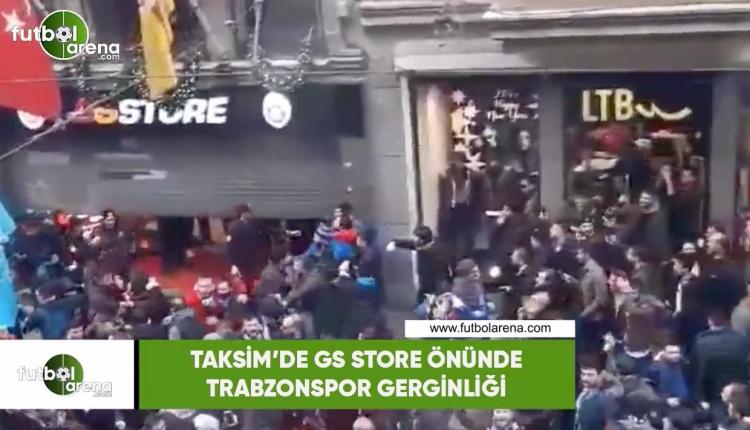 Taksim'de GS Store önünde Trabzonspor gerginliğİ
