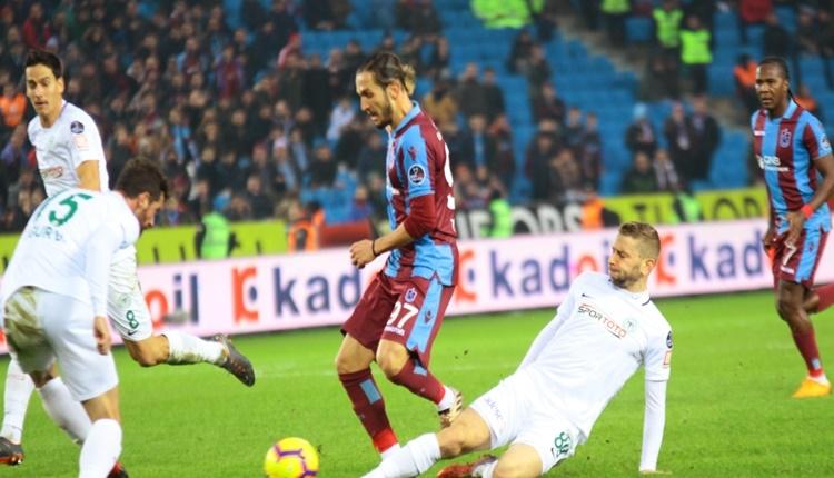Trabzonspor 3 - 0 Atiker Konyaspor maçın özeti ve golleri