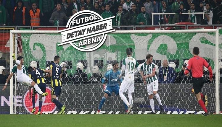 Bursaspor'dan Fenerbahçe maçında en etkili hücum performansı