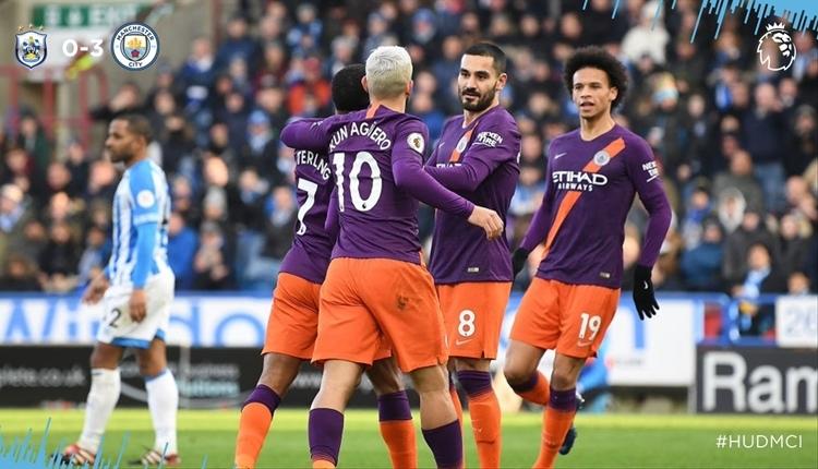 Huddersfield Town 0-3 Manchester City maç özeti ve golleri izle