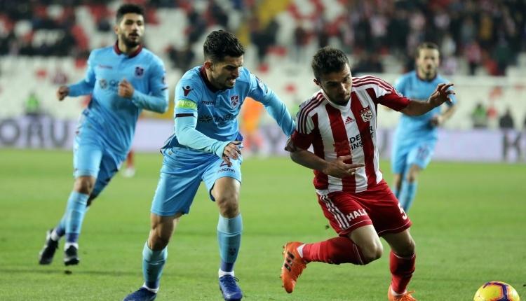Sivasspor 1-1 Trabzonspor maç özeti ve golleri (İZLE)