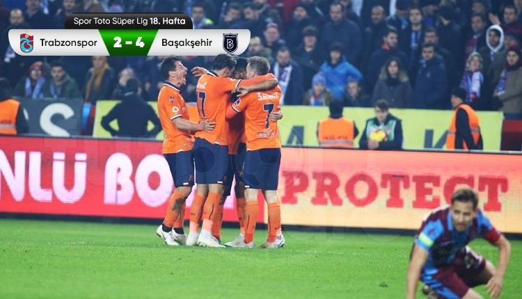 Trabzonspor 2-4 Medipol Başakşehir maç özeti ve golleri izle