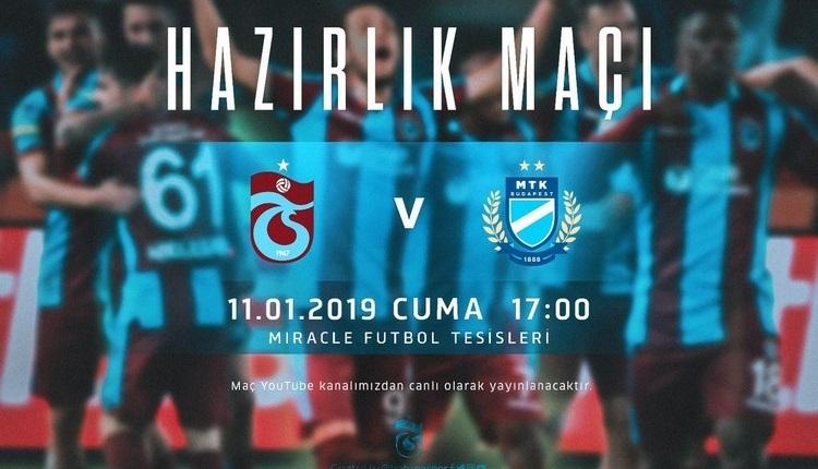 Trabzonspor MTK Budapeşte canlı izle - Trabzonspor MTK canlı skor (Trabzonspor Budapeşte)