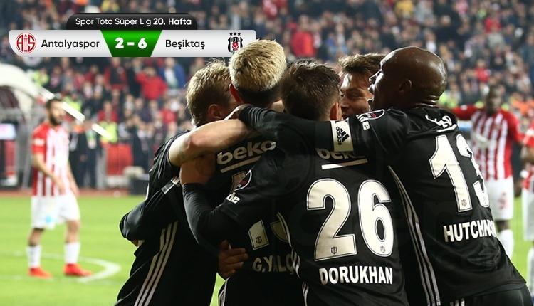 Antalyaspor 2-6 Beşiktaş maç özeti ve golleri izle
