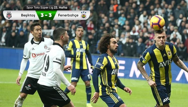 Beşiktaş 3-3 Fenerbahçe maç özeti ve golleri (İZLE)