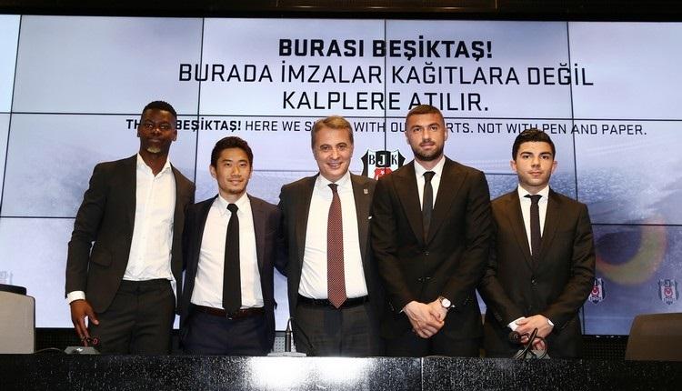 Beşiktaş'ta yeni transferler imzaladı (Burak Yılmaz, Muhayer Oktay, Mirin, Kagawa)