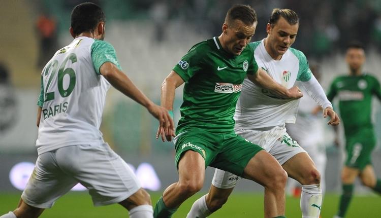 Bursaspor 0-0 Konyaspor maç özeti izle (Umut Nayir penaltı kaçırdı)