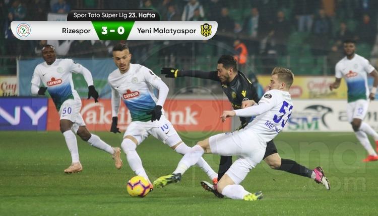 Çaykur Rizespor 3-0 Yeni Malatyaspor maç özeti ve golleri (İZLE)