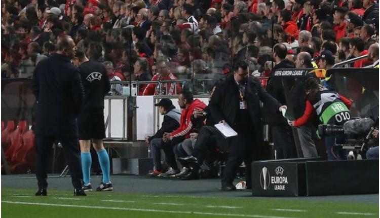 Fatih Terim, Benfica taraftarı ile tartıştı