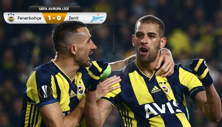 Fenerbahçe Kadıköy'de Zenit'i Slimani ile devirdi (İZLE)