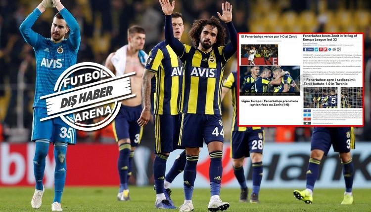Fenerbahçe'nin galibiyeti Avrupa basınında