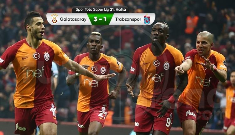 Galatasaray 3-1 Trabzonspor maç özeti ve golleri (İZLE)