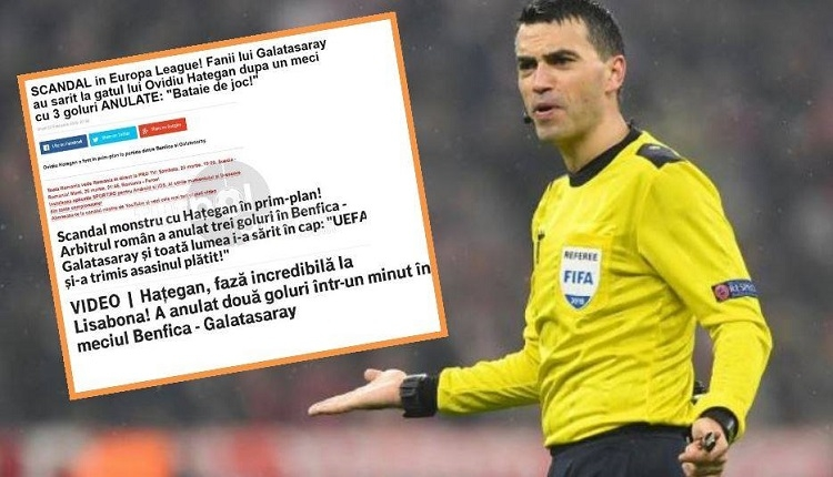 Galatasaray maçının olay hakemi ülkesinde topa tutuldu! Tetikçi