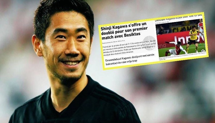 'Kagawa sen bir çılgınsın!' Avrupa basınında manşetlerde