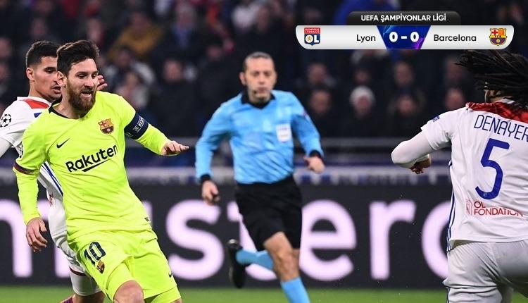 Lyon 0-0 Barcelona maç özeti izle