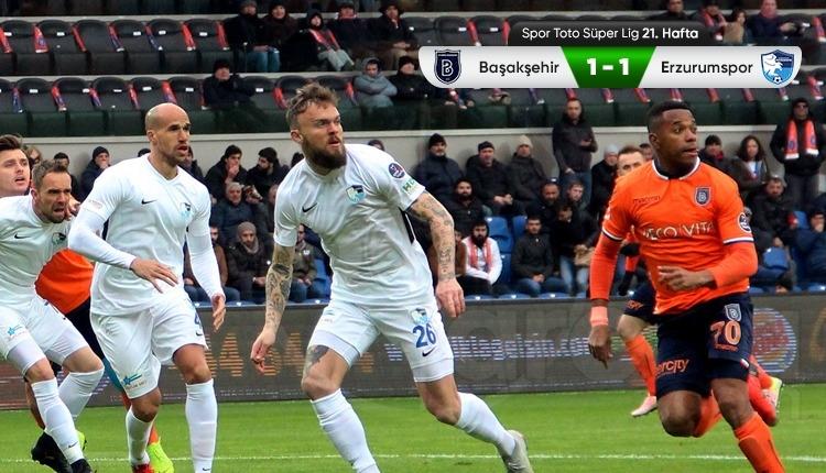 Medipol Başakşehir 1-1 BB Erzurumspor maç özeti ve golleri (İZLE)