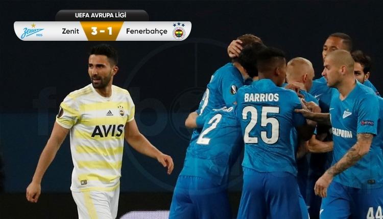 Zenit 3-1 Fenerbahçe maç özeti ve golleri izle