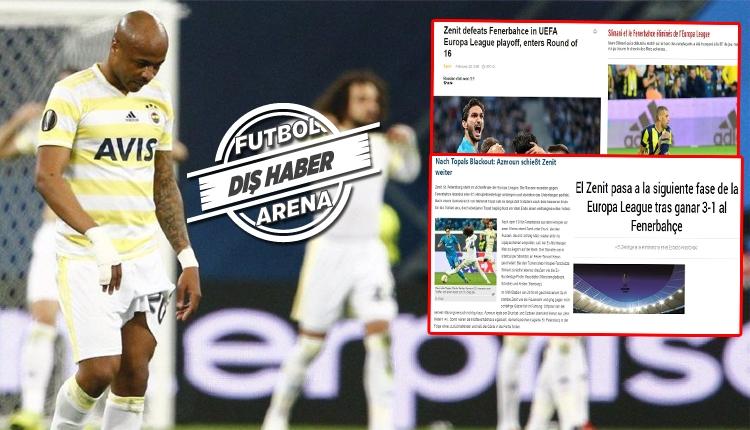 Zenit - Fenerbahçe maçı Avrupa basınında