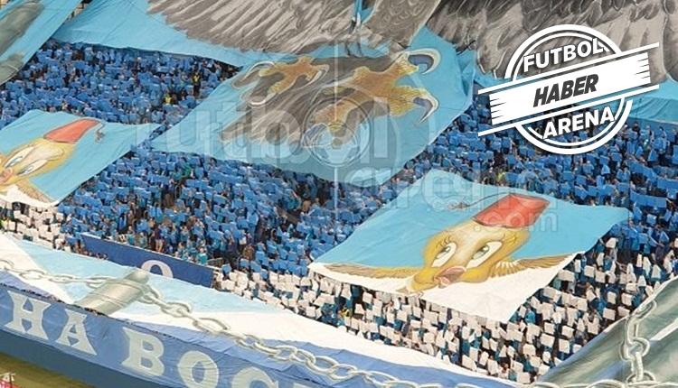 Zenit taraftarından Fenerbahçe maçında olay koreografi