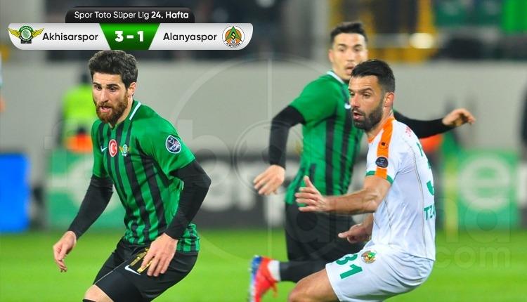 Akhisarspor 3-1 Aytemiz Alanyaspor maç özeti ve golleri (İZLE)