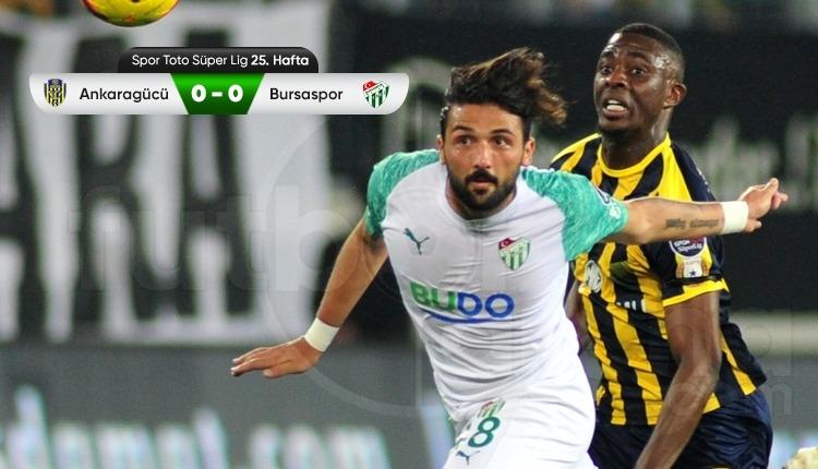 Ankaragücü 0-0 Bursaspor maç özeti (İZLE)