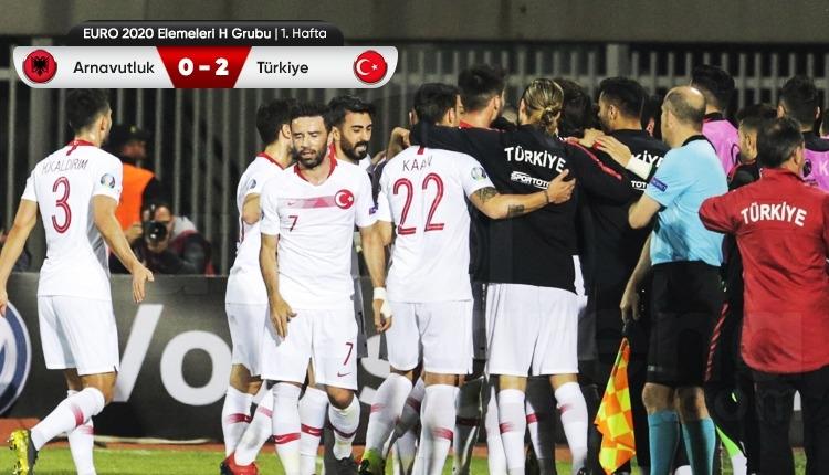 Arnavutluk 0-2 Türkiye maç özeti ve golleri (İZLE)