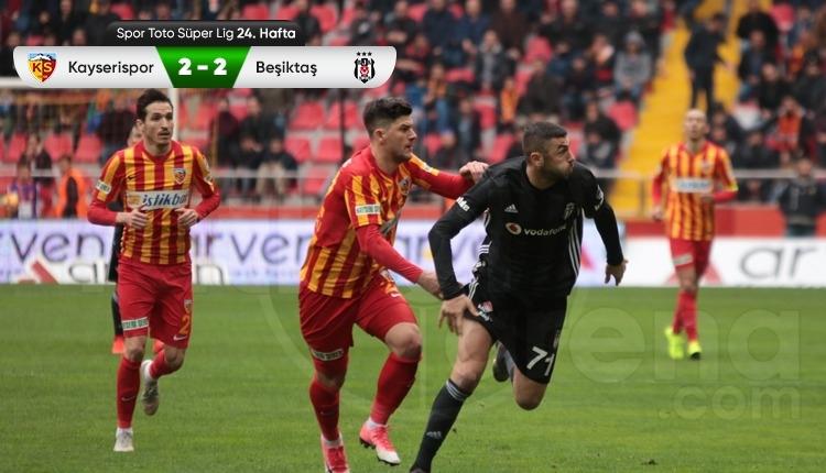 Beşiktaş, Kayseri'de puanı son dakikada kurtardı (İZLE)