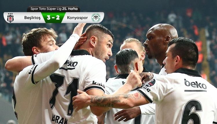 Beşiktaş 3-2 Atiker Konyaspor maç özeti ve golleri (İZLE)