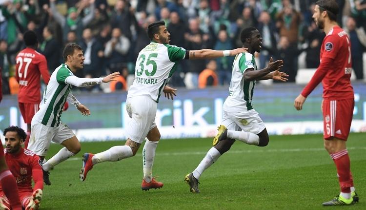 Bursaspor 3-2 Sivasspor maç özeti ve golleri (İZLE)
