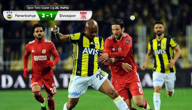 Fenerbahçe 2-1 Sivasspor maçı özeti ve golleri (İZLE)