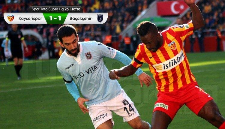 Kayserispor 1-1 Medipol Başakşehir maç özeti ve golü (İZLE)