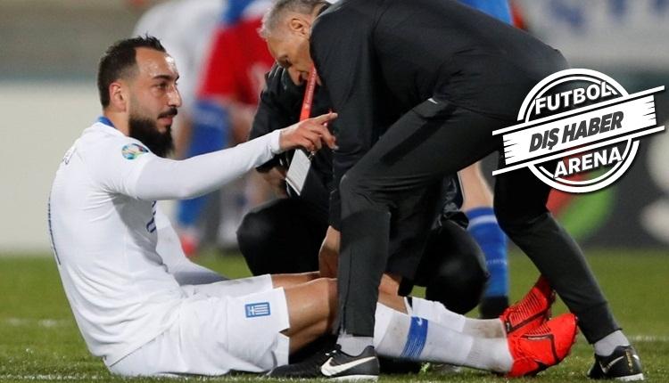 Kostas Mitroglou milli takımda sakatlandı! Galatasaray'a şok!