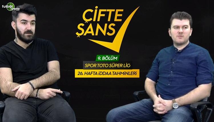 Süper Lig'de 26. haftanın İddaa tahminleri (Çifte Şans)